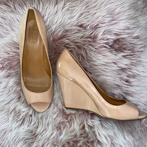 4in Open Toe Nude Wedge—Good Condition